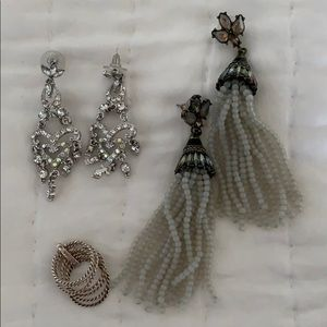 Jewelry - Formal earrings and ring